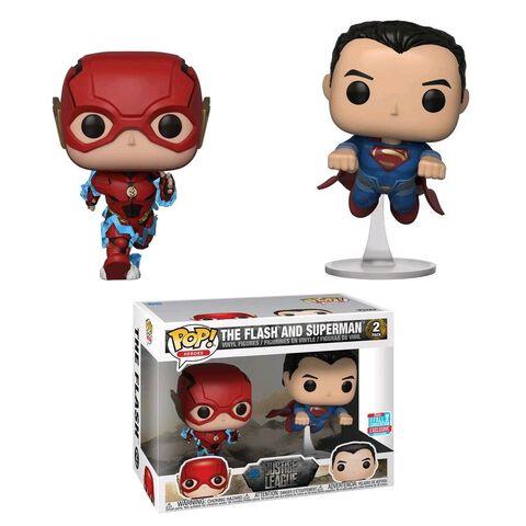 Figurine Funko Pop! N°02 - Justice League - Twin Pack Flash et Superman