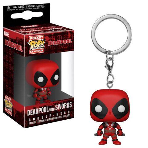 Porte-cles Funko Pop! - Deadpool - Playtime Deadpool Avec Sabres