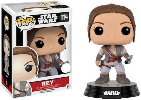 Figurine Funko Pop! N°114 - Star Wars - Rey Scène Finale Episode VII