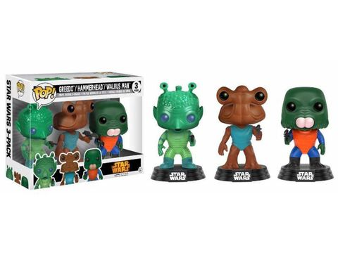 Figurine Funko Pop! - Star Wars - 3 Pack Greedo, Hammerhead, Walrus Man