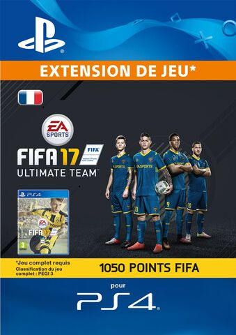 DLC - FIFA 17 Ultimate Team 1 050 Pts Ps4