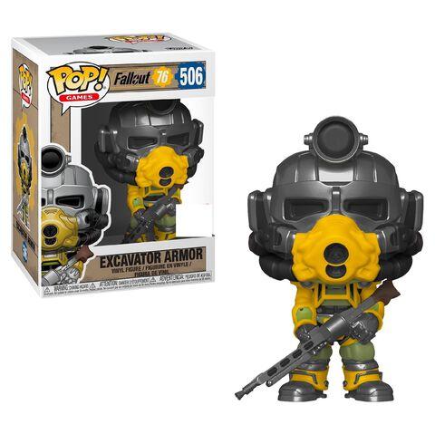 Figurine Funko Pop! N°506 - Fallout 76 - Excavator Armor - Exclusivité Micromania-Zing