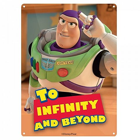 Plaque En Metal - Toy Story - To Infinity And Beyond