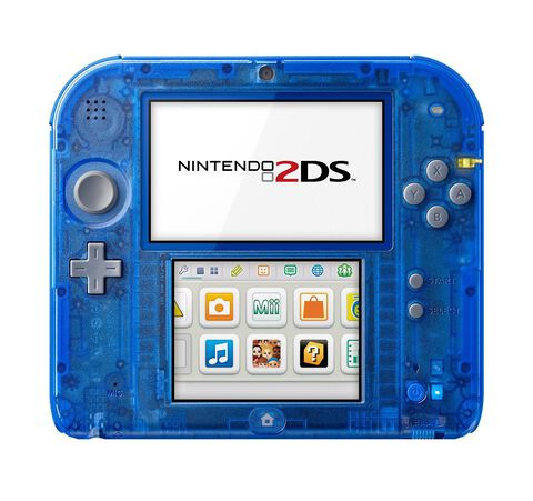 Nintendo 2DS Bleu Transparent - Occasion