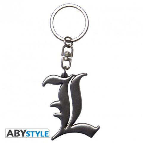 Porte-clés - Death Note - Symbole L 3D