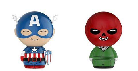 Figurines Dorbz - Marvel - Captain America et Crâne Rouge