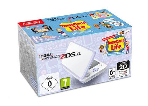 Nintendo New 2ds Xl Blanc/lavande & Tomodachi Life Préinstallé