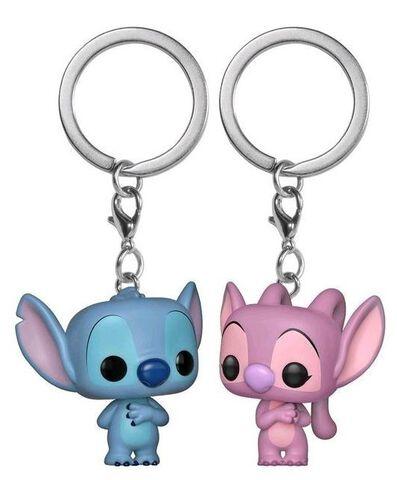 Porte-clés - Lilo et Stitch - Twin Pack Stitch et Angel