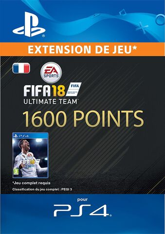FIFA 18 Ultimate Team 1 600 Pts Ps4