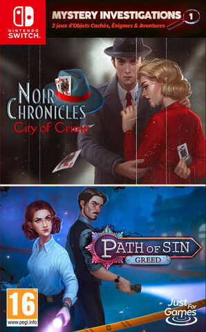 Mystery Investigations 1 Path Of Sin Greed+noir Chronicles City Of Crime