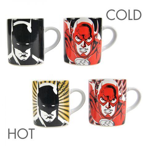 Mug - Justice League - Set de 2 Mini Heat Change Batman et Flash