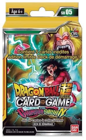 Starter - Dragon Ball Super Série 5 blister Crimson Saiyan