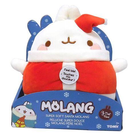 Peluche Molang - Père Noël - Super Douce