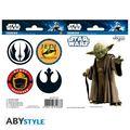 Stickers - Star Wars - 16 x 11 cm / 2 Planches - Yoda / Symboles