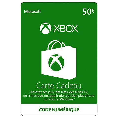 Carte Cadeau Xbox 50.Xbox Live 50 Euros Xbox 360 Xbox One Xbox One