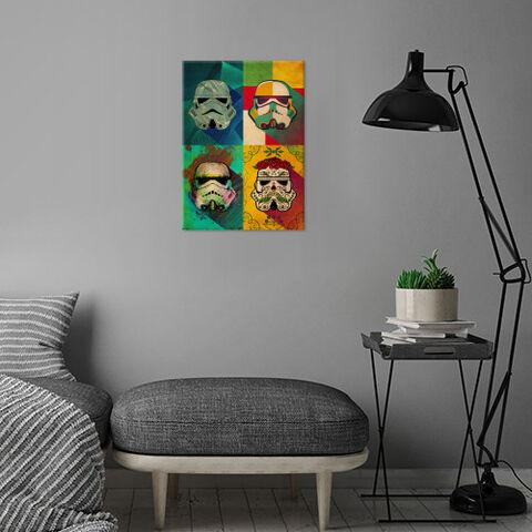 Poster Métallique - Star Wars - Muerte Squad Pop Art Trooper