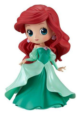 Figurine Q Posket - Disney - Ariel en robe de princesse (robe verte)
