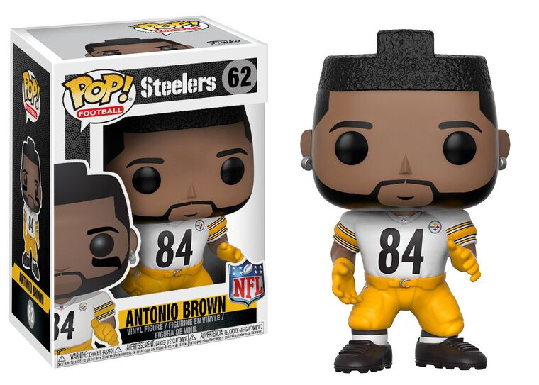 Figurine Funko Pop! N°62 - NFL 4 -  Antonio Brown Color Rush (exclusivité Microm