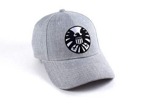 Casquette Marvel - Logo Shield - Captain Marvel Grise Taille Unique