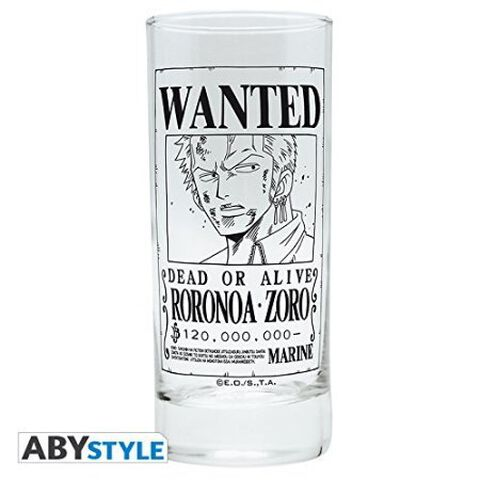 Verre - One Piece - Zoro Wanted
