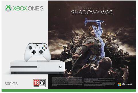Pack Xbox One S 500go Blanche + L'ombre De La Guerre (token)