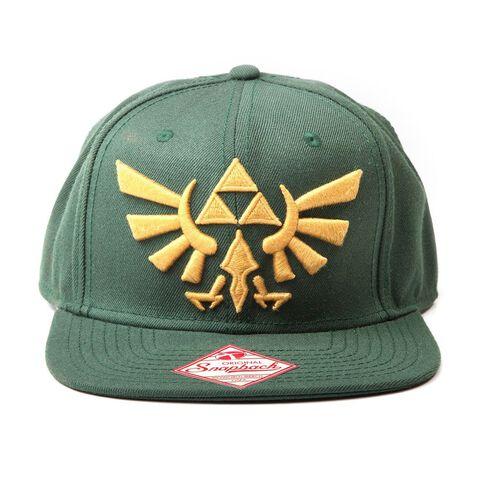 Casquette - Zelda Green - Golden Triforce Logo Twilight Princess