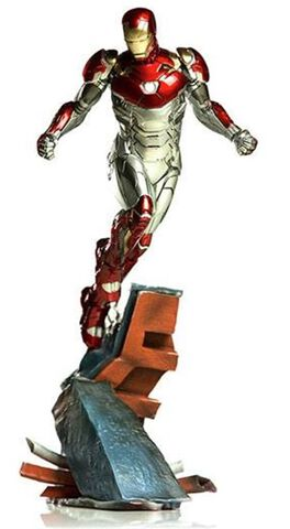 Statuette Iron Studios - Spider-Man Homecoming - Iron Man Battle Diorama Scene 1