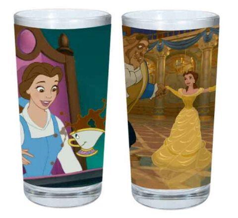 Verre - Disney - La Belle et la Bête - Set de 2