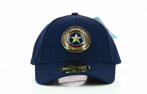 Casquette - Captain America - Logo Metal Vintage - Taille Unique Marine