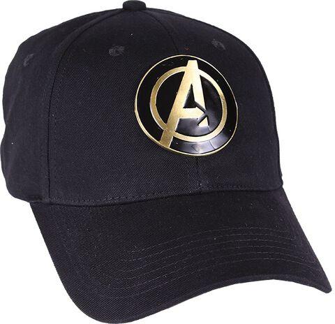Casquette - Marvel - Logo Avenger métal noir - Taille unique