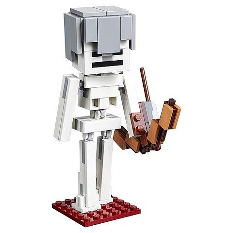 Lego - Minecraft - 21150 - Bigfigurine Série 1 Squelette avec un Cube de Magma