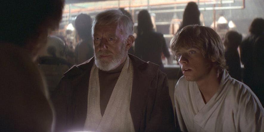 Luke Skywalker et Obi-Wan Kenobi dans Star Wars