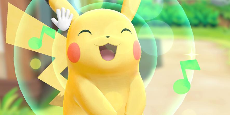 Pikachu dans Pokémon Let's Go