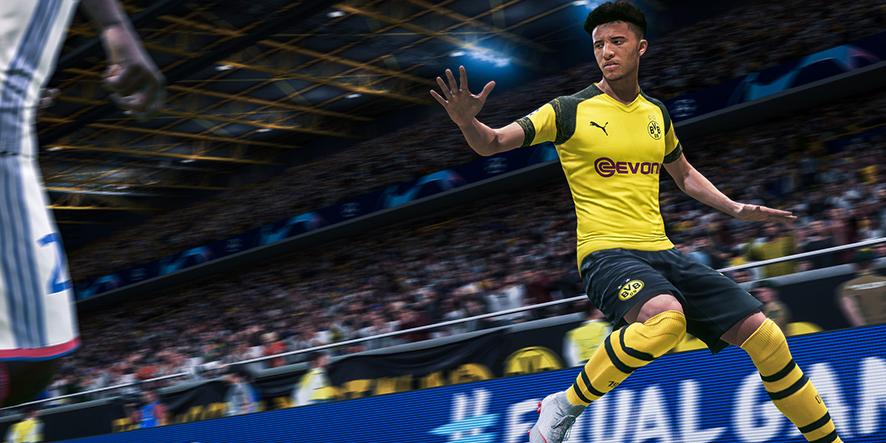 Jadon Sancho dans FIFA 20