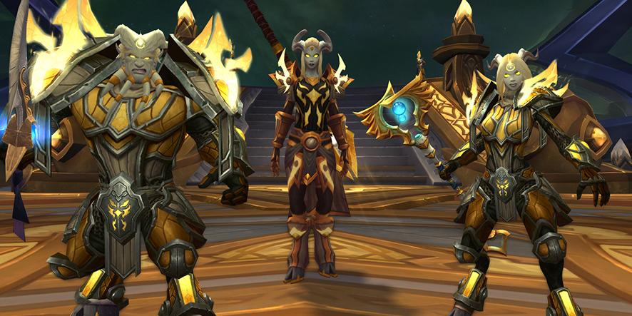 Des personnages dans World of Warcraft