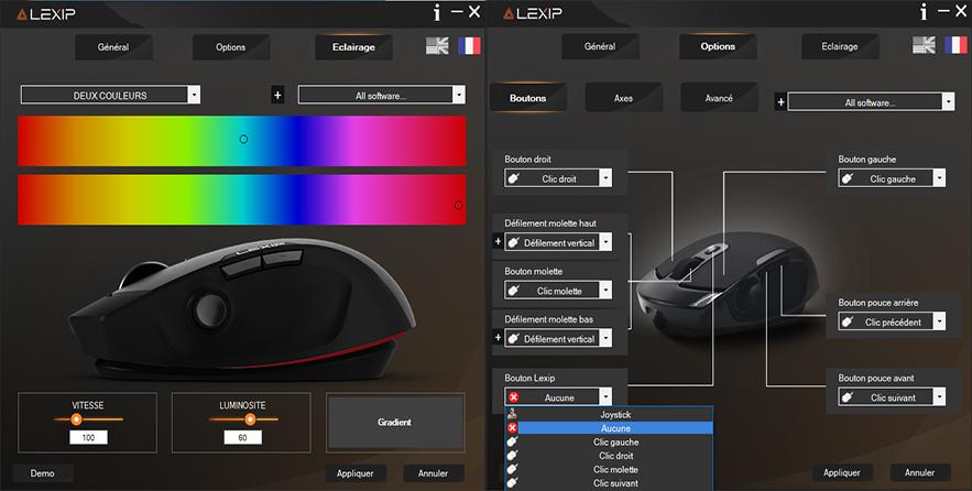 Lexip Control Panel