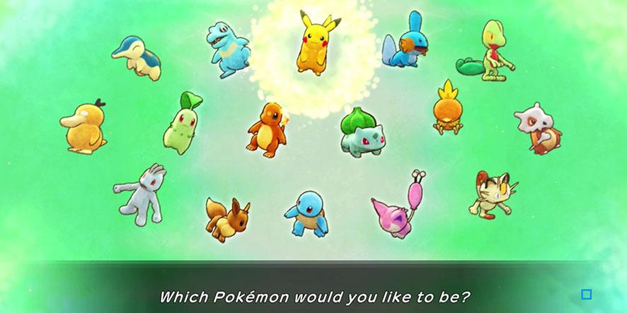 Choix du Pokémon dans Donjon Mystère